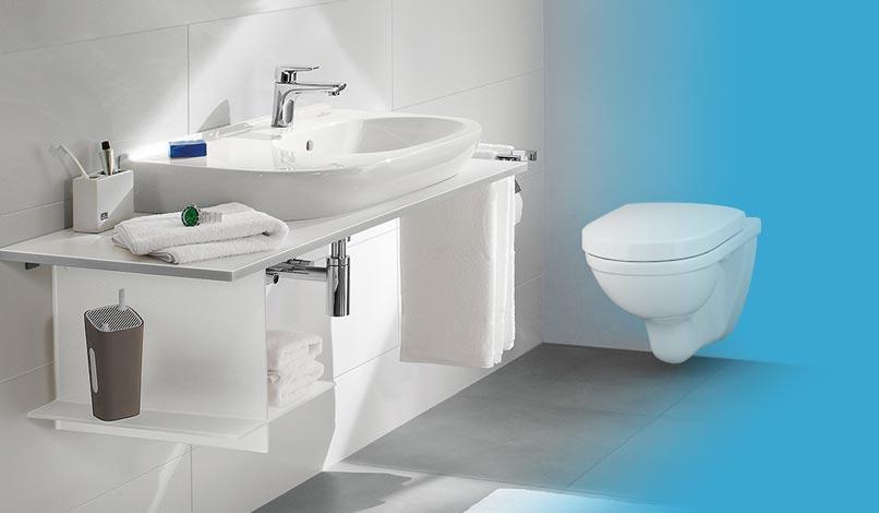 Badkeramiek: toiletten en wasttafels vindt u voordelig bij ...