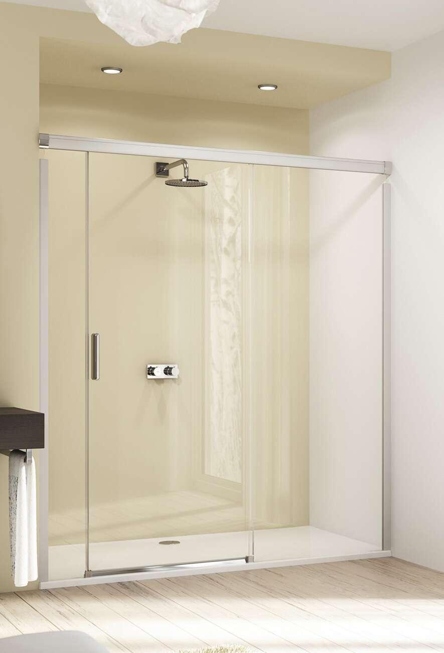 huppe design elegance douche schuifdeur met vast en. Black Bedroom Furniture Sets. Home Design Ideas