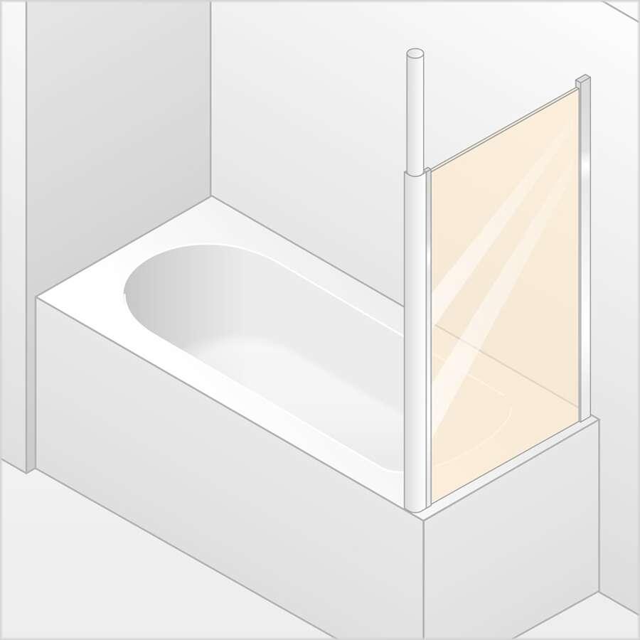 Huppe 501 Design Pure Zijwand.Huppe 501 Design Zijwand Voor Badwand Serie 501