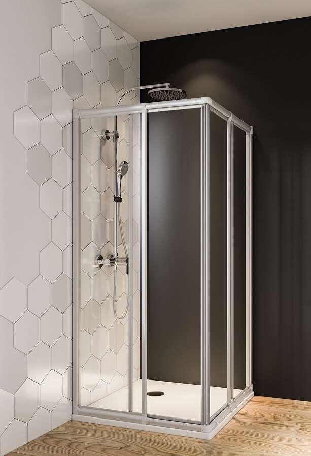 breuer fara douchecabine hoekinstap 4 delig schuifdeuren. Black Bedroom Furniture Sets. Home Design Ideas