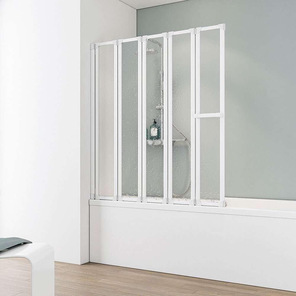 Schulte komfort v badwand 5 delig met handdoekhouder d1315 - Duschwand ohne bohren ...