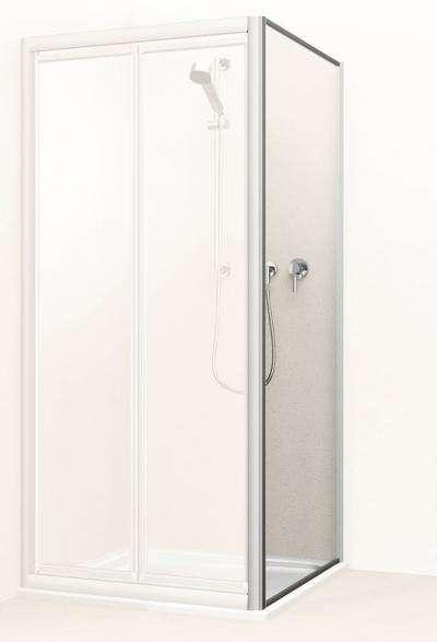 koralle zijwand voor douchedeur voordelig bij douche. Black Bedroom Furniture Sets. Home Design Ideas