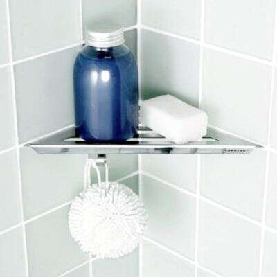 scanbad ablage regal f r duschen in ecke 2400600. Black Bedroom Furniture Sets. Home Design Ideas